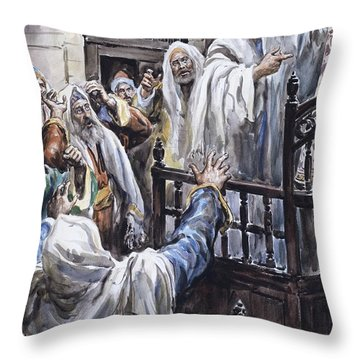 Jesus  Throw Pillow by Henry Coller
