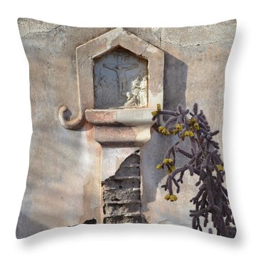 Throw Pillow featuring the photograph Jesus Image by Rebecca Margraf