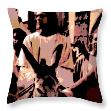 Jesus Rides Into Jerusalem Throw Pillow by George Pedro