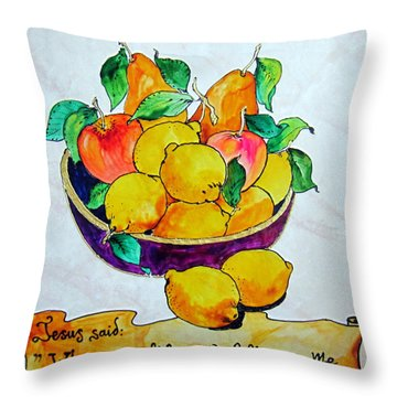 Throw Pillow featuring the photograph Jesus Said by Roberto Gagliardi