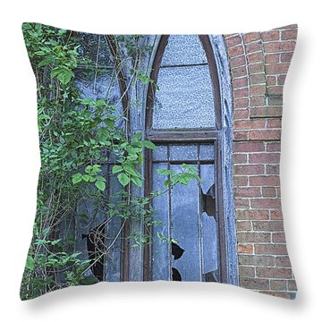 Throw Pillow featuring the photograph Jesus Saves 2 by John Crothers
