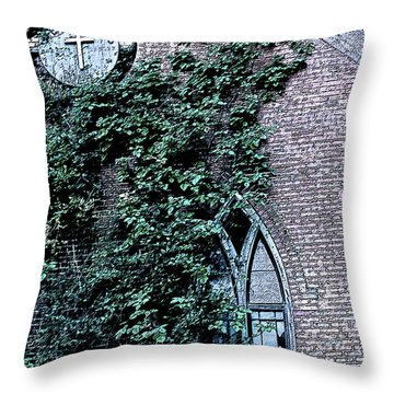 Throw Pillow featuring the photograph Jesus Saves...just Not This Church by John Crothers