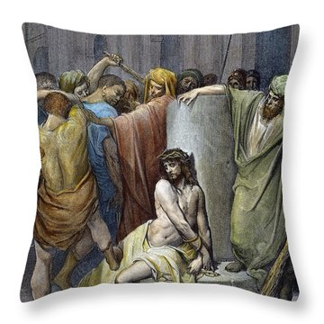 Jesus: Scourging Throw Pillow by Granger