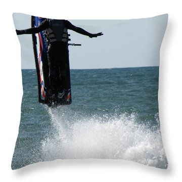 Throw Pillow featuring the photograph Jet Ski by John Crothers