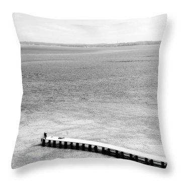 Jetty In A Lake Throw Pillow