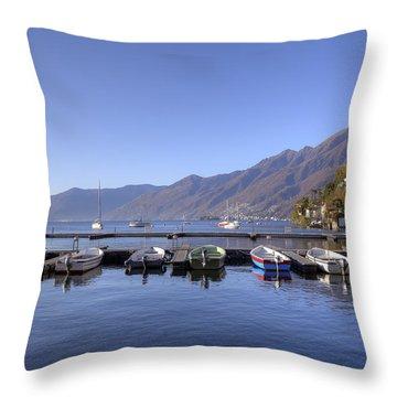 jetty in Ascona Throw Pillow by Joana Kruse