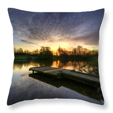 Jetty Sunrise 2.0 Throw Pillow by Yhun Suarez