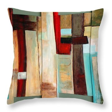 Jewel Five Throw Pillow