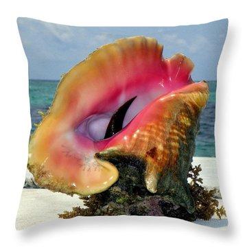 Jewel Of The Deep Throw Pillow by Karen Wiles