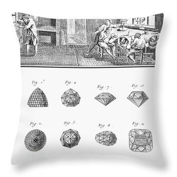 Jewelers Workshop Throw Pillow by Granger