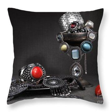 Jewellery Still Life Throw Pillow by Oleksiy Maksymenko