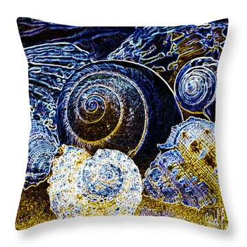 Abstract Seashell Art Throw Pillow by Carol F Austin