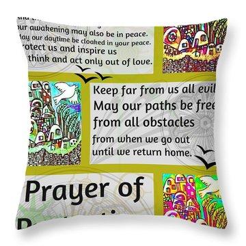 Jewish Prayer Of Protection City Of Jerusalem Gold Throw Pillow