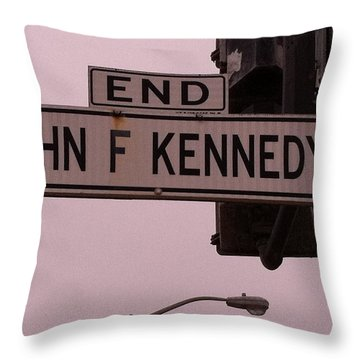 Throw Pillow featuring the photograph Jfk Street by Bill Owen