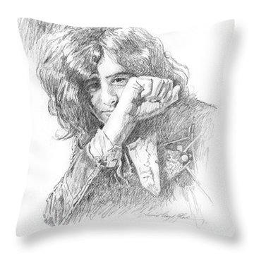 Jimmy Page In Person Throw Pillow