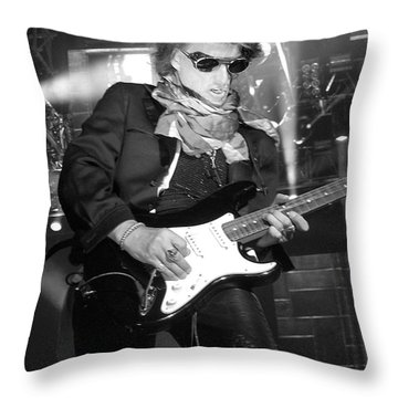 Joe Perry Throw Pillow by Traci Cottingham