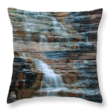 Joffre Gorge - Karijini Np 2am-29568 Throw Pillow by Andrew McInnes