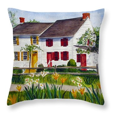 John Abbott House Throw Pillow