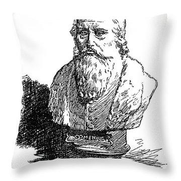 John Amos Comenius Throw Pillow by Granger
