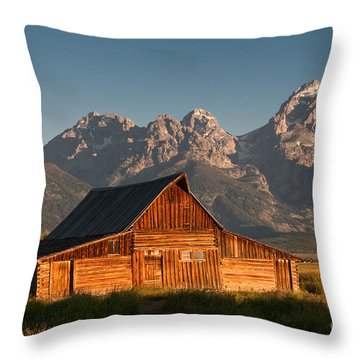 John And Bartha Moulton Barn Throw Pillow by Stuart Wilson and Photo Researchers