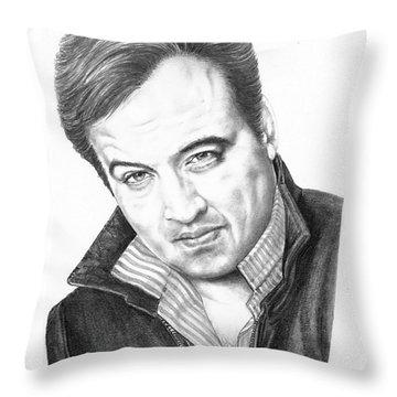 John Belushi Throw Pillow by Murphy Elliott