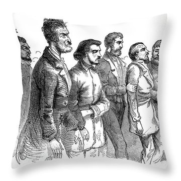 John Brown Trial, 1859 Throw Pillow by Granger