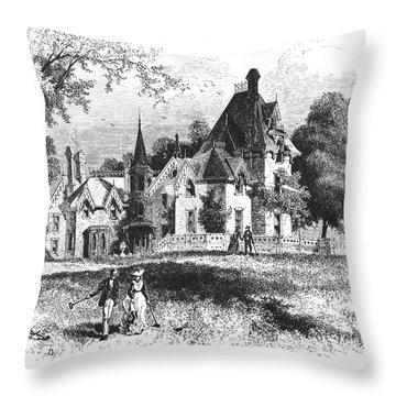 John E. Williams Residence Throw Pillow by Granger