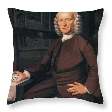 John Harrison, English Inventor Throw Pillow by Photo Researchers