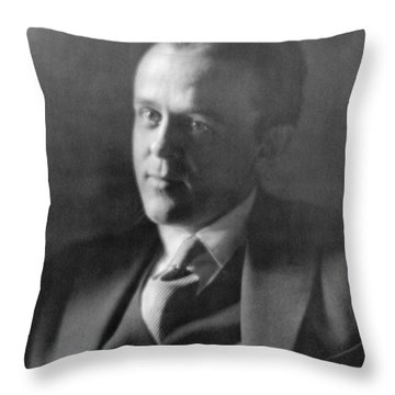 John Reed, American Journalist Throw Pillow by Photo Researchers
