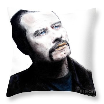 John Travolta In The Taking Of Pelham 123  Throw Pillow by Jim Fitzpatrick