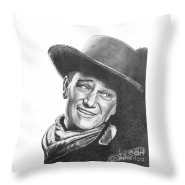 John Wayne   Dreamer Throw Pillow