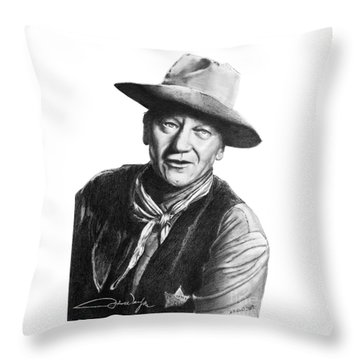 John Wayne  Sheriff Throw Pillow
