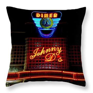 Johnny D's Throw Pillow by Guy Harnett