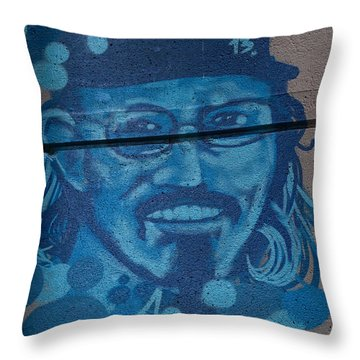 Throw Pillow featuring the digital art Johnny On The Wall by Carol Ailles