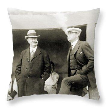 Johnson & Ruth, 1922 Throw Pillow by Granger