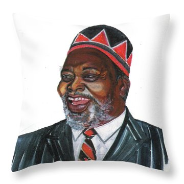 Jomo Kenyatta Throw Pillow