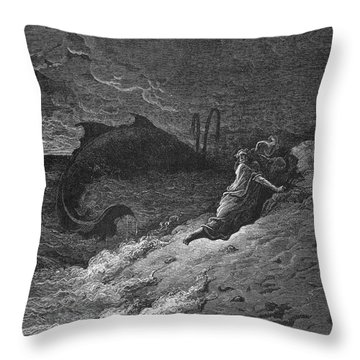 Jonah & The Whale Throw Pillow by Granger