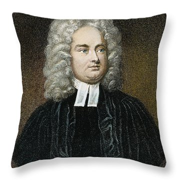 Jonathan Swift (1667-1745) Throw Pillow by Granger