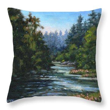 Jones' Creek Throw Pillow by Richard De Wolfe