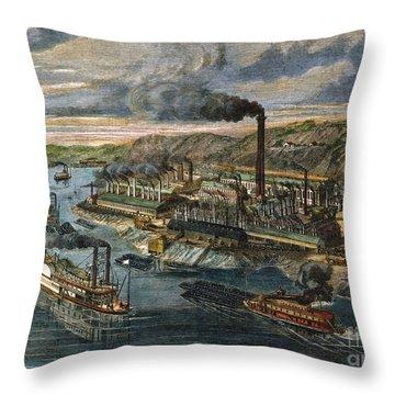 Jones/laughlin Iron Works Throw Pillow by Granger
