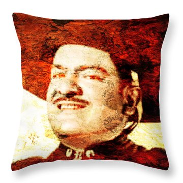 Jose Alfredo Jimenez Throw Pillow by J- J- Espinoza