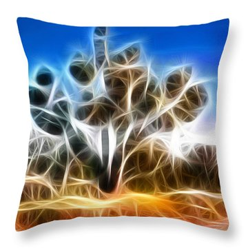 Joshua Tree Throw Pillow by Methune Hively