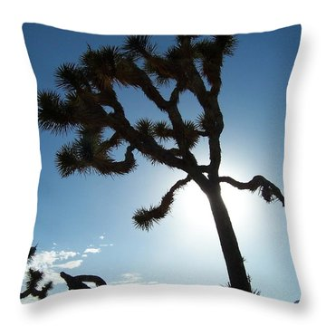 Joshua Tree Throw Pillow by Peter Mooyman