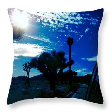 Joshua Tree Throw Pillow by Tony Koehl