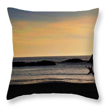 Joy Throw Pillow by Becky Thompson