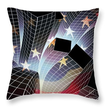 Joy In The City Throw Pillow by Atiketta Sangasaeng