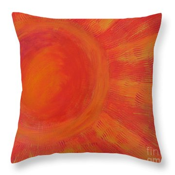 Joy In The Morning Throw Pillow
