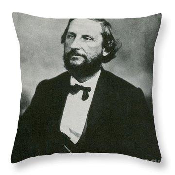 Judah P. Benjamin, Confederate Throw Pillow by Photo Researchers