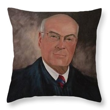 Throw Pillow featuring the painting Judge J.s. Daniel by Carol Berning