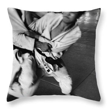 Judo Throw Pillow by Bernard Wolff